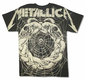 Men's Shirts & Tops Solid T-Shirts for Men Metallica T-shirt Spider White All Over Print Men's