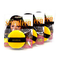Lot 3 Seventeen Compact Face Makeup Shine Control Yellow Loose Powder Puffs