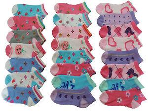 12-Paar-Maedchen-Sneaker-Socken-23-24-25-26-27-28-29-30-31-32-33-34-35-36-37-38