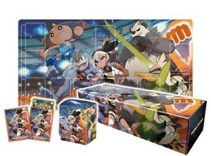 Pokemon Center Bea Saito Rubber play mat Sleeve Card box Deck case set