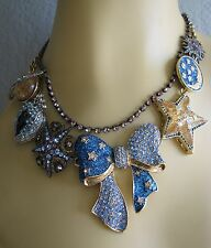 BETSEY JOHNSON HEAVENS TO BETSEY ORBITAL BOW GALAXY STATEMENT NECKLACE~NWT~RARE