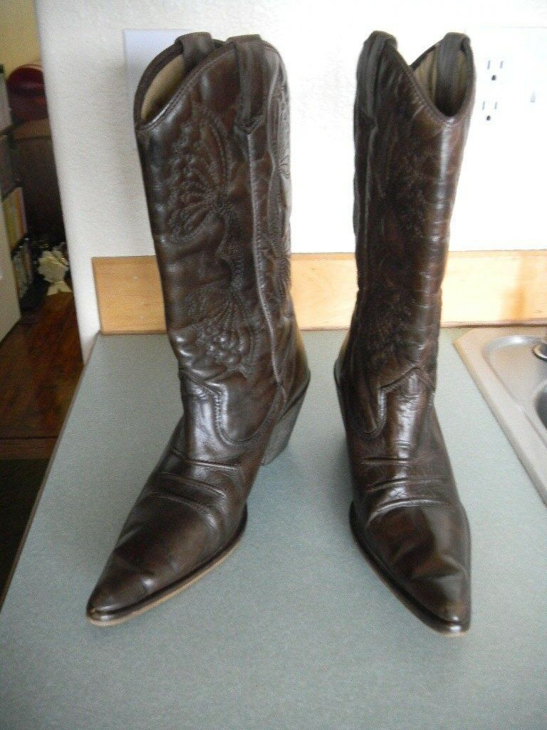 Aldo Brown Leather Cowboy Cowboy Cowboy Boots Pointed Toe Made in Spain Sz 7.5 M   EUR 38 86dfcb