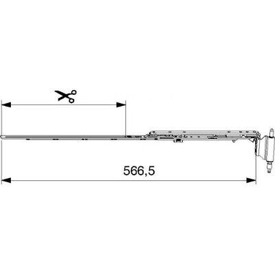 Maco Multi-matic Schere Für 180 Kg 670 12/18-9 Rechts Ffb 401-670 Mm Ral9016 Ver