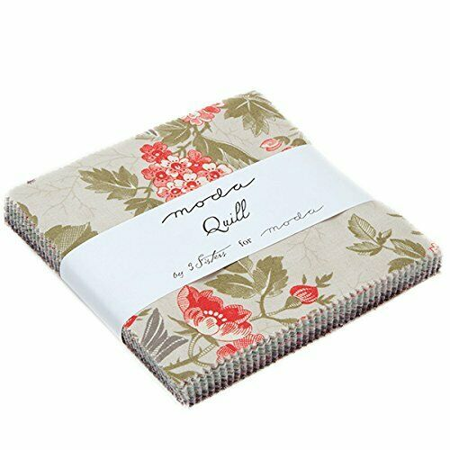 """Quill Charm Pack By 3 Sisters; 42-5/"""" Precut Fabric Quilt Squares"""