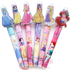 Disney Princess Ball Point Pen 6pc Set Black Ink Cinderlla Ariel Snow White Bell