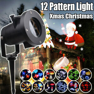 Outdoor LED Christmas Lights Moving Laser Projector Landscape Xmas Party Lamp