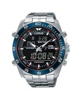 Lorus by Seiko RW623AX9 Mens Dual Analog & Digital Watch 100m Light Alarm