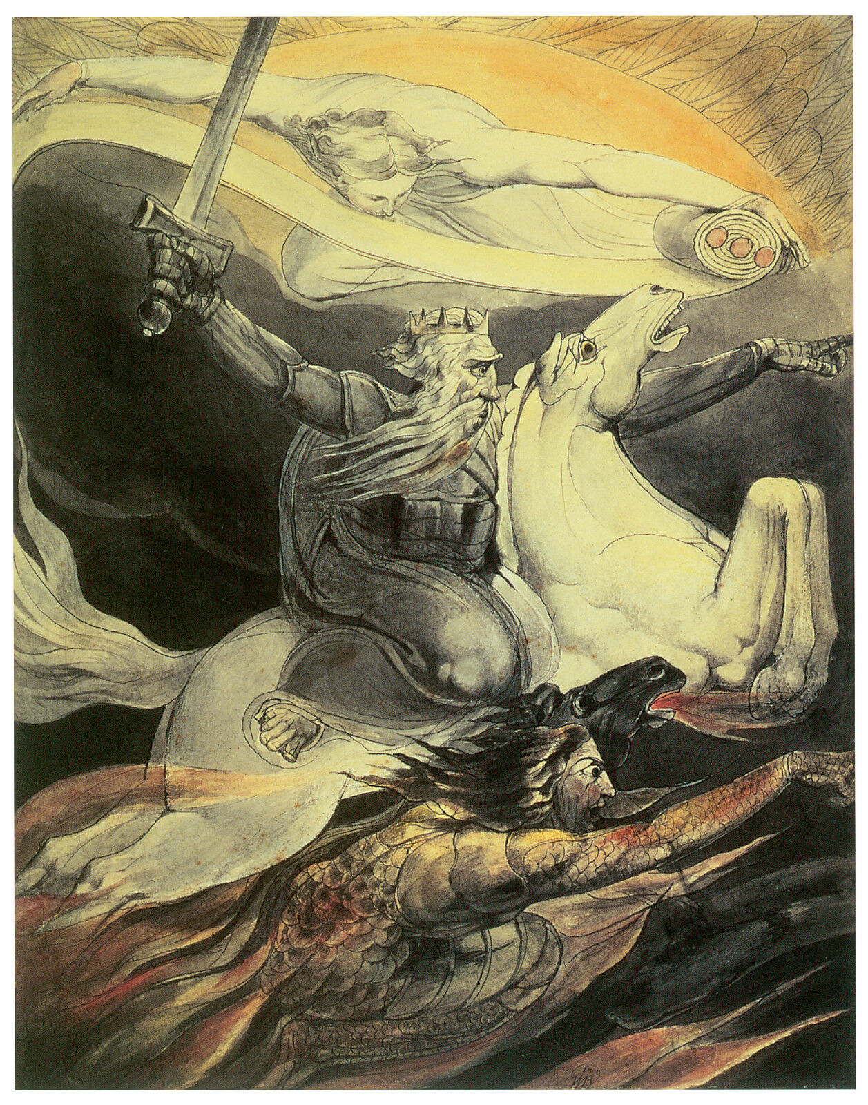 Death on a Pale Horse, c. 1800, William Blake -Great Horse Art