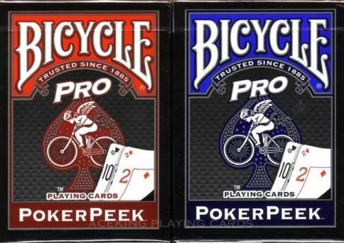 Pro Bicycle PRO Poker Deck Either in Blue or Red Playing Cards large index