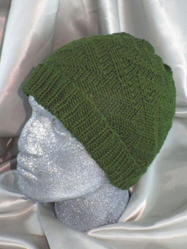 Impreso Knitting instructions-zig Zag Gorro Tejer patrón