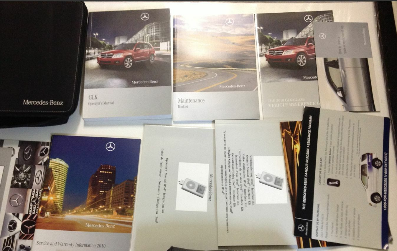 Pleasing 2010 Benz Glk Class Models Manual Set Kit W Case Factory Feo Owners Wiring 101 Ivorowellnesstrialsorg