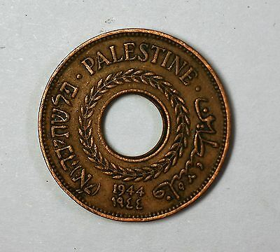 1944 Palestine Israel 5 Mils Copper Circulated Type One Coin