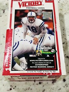 2000-Upper-Deck-Victory-Football-Sealed-Box-36-Packs-Possible-Tom-Brady-RC