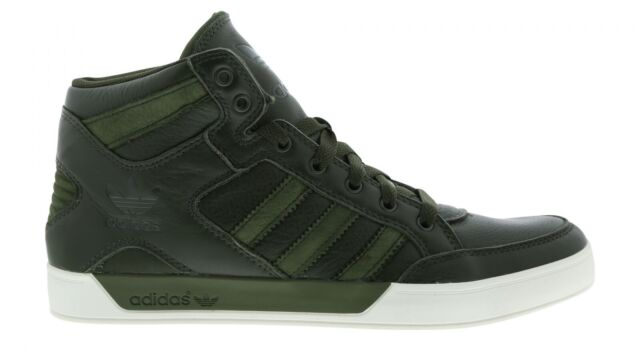 797f0499270cd6 Mens Original adidas Hard Court Hi Waxy Crafted Trainers Olive Green ...