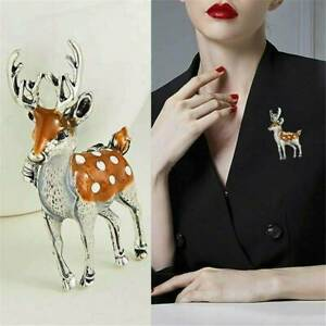 Fashion-Christmas-Elk-Deer-Animal-Brooch-Pin-Corsage-Xmas-Jewelry-Gift-Women-Men
