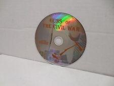 Guns Of The Civil War DVD Documentary NO CASE Parrott Gatling Howitzer Weapons