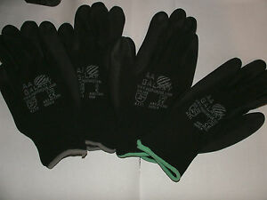 high-quality-Black-Nylon-PU-Safety-Work-Garden-Gloves-Medium-1-To-50-Pairs