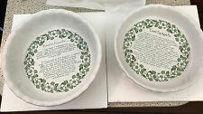 Paula Deen Set of 2 Ceramic Pie Dishes *New* Never Used, Estate Sale!