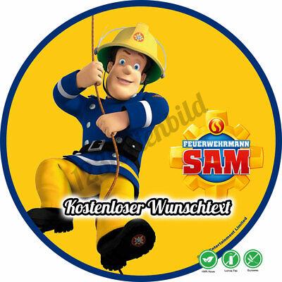 Tortenaufleger Geburtstag Tortenbild Zuckerbild Feuerwehrmann Sam 010