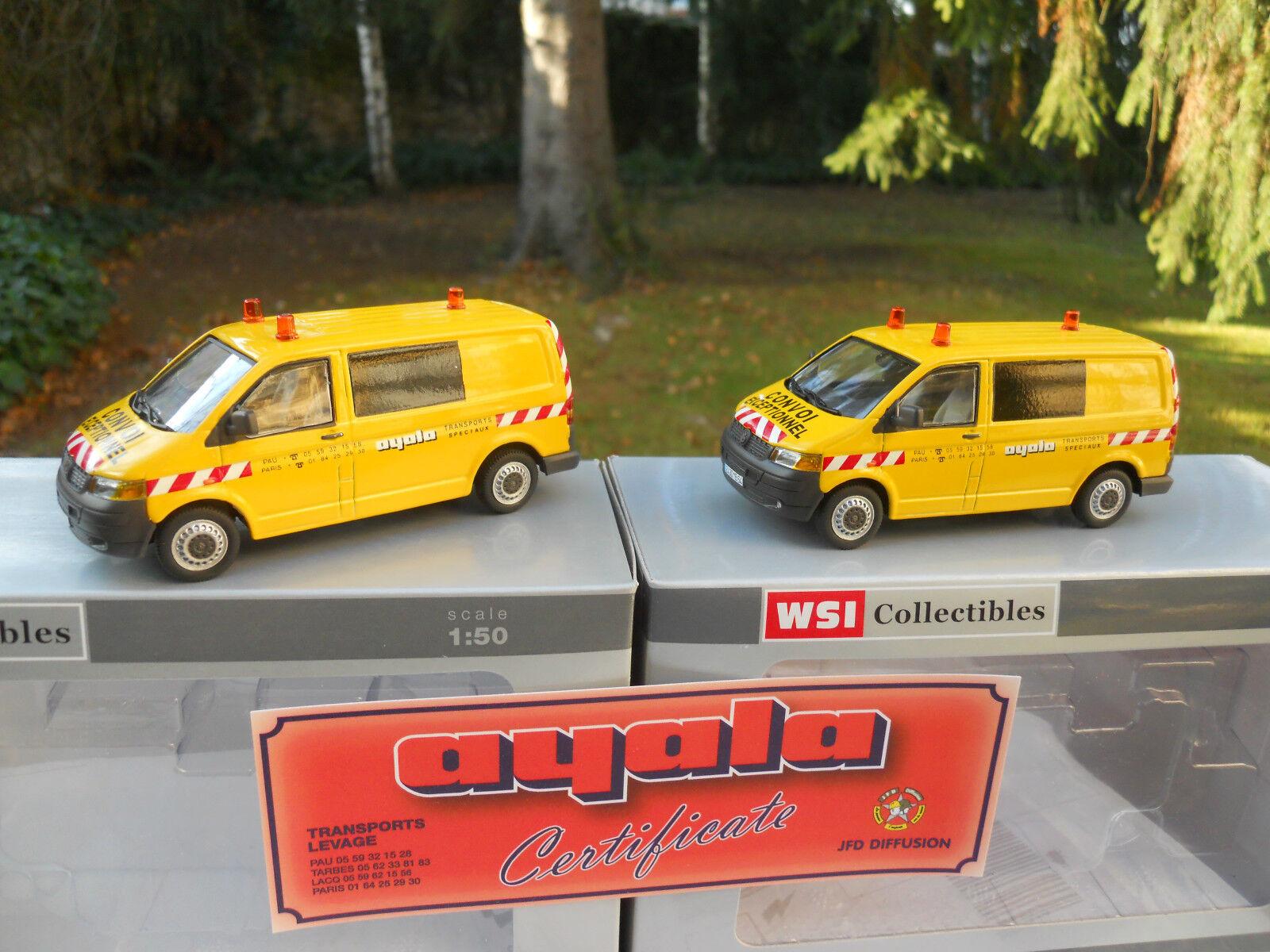 WSI MODELS 02-1532 LOT DE 2 VW VW VW TRANSPORTEUR VOITURE D'ACCOMPAGNEMENT  AYALA f24337