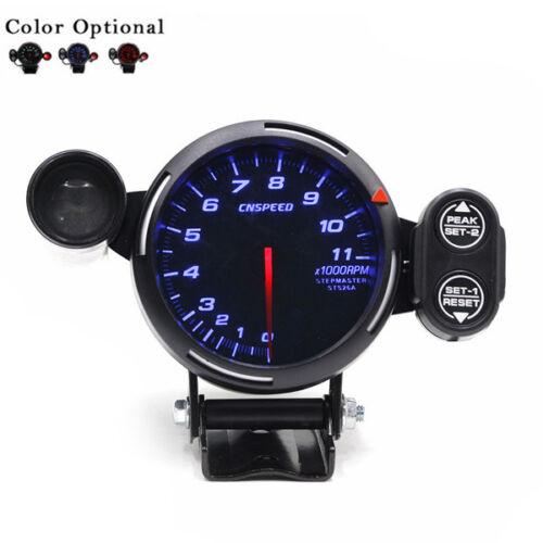 "Stepping Motor RPM High Quality 12V Tachometer Gauge Kit LED 3.5/"" Auto Meter"