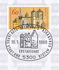 Rfa-1980-Osnabruck-1200-Annees-N-1035-Avec-Le-Bonner-Timbre-Special-1A