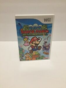 Super-Paper-Mario-Nintendo-Wii-Complete-in-Box-with-Manual-Tested-And-Works