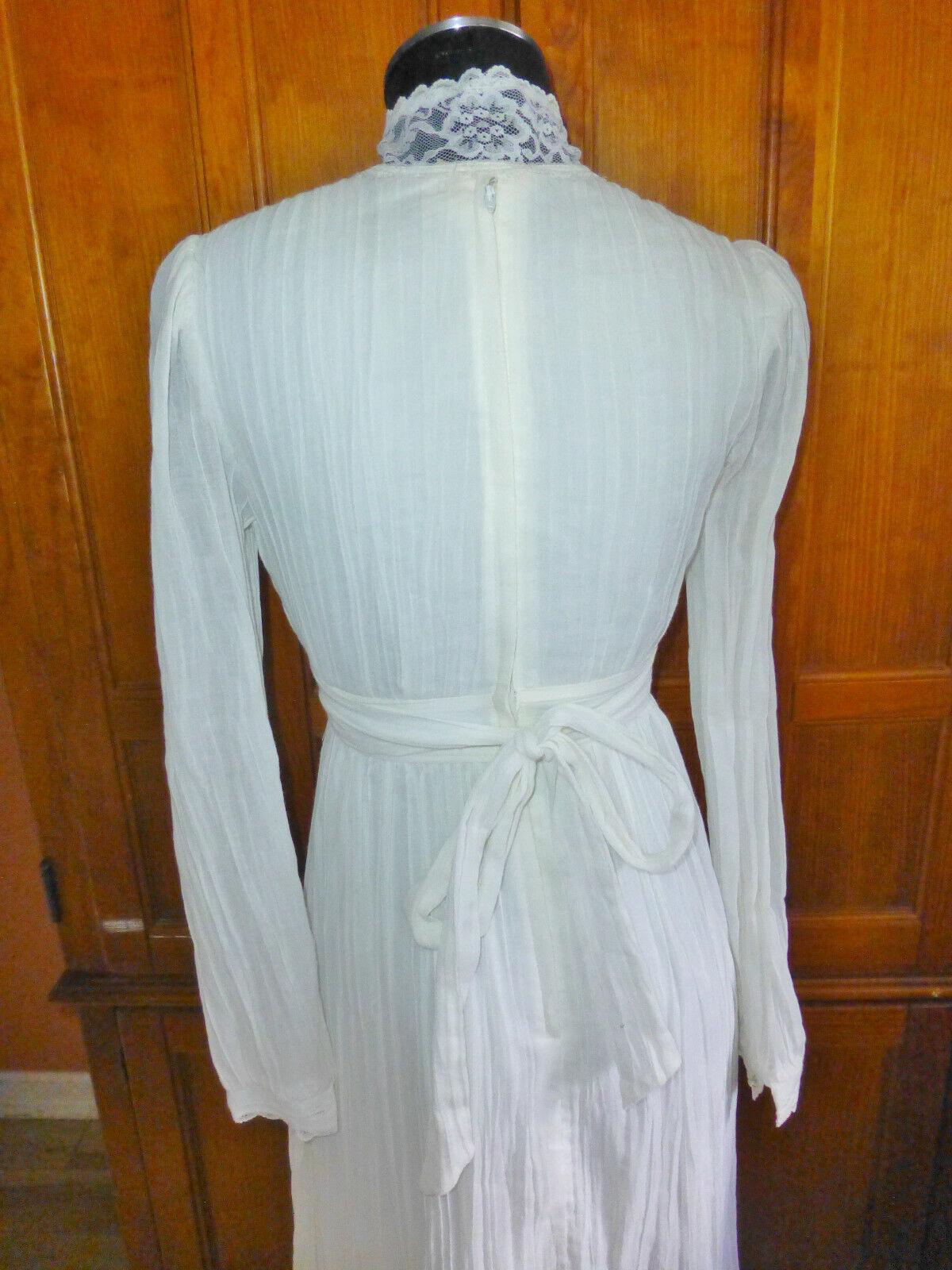 Vintage 70s GUNNE SAX Gauze Cotton Lace Prairie C… - image 9