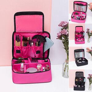 63c403689 La imagen se está cargando Mujer-Grande-Cosmetico-Maquillaje-Viaje-Neceser- Portatil-Funda-