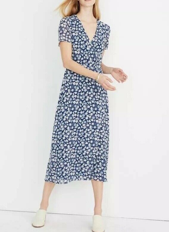 b93aee5fa27 Madewell NWT wrap-front midi dress in french floral