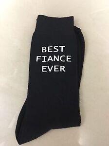 Best-Fiance-Ever-Valentines-Gift-Men-039-s-Novelty-Vinyl-Printed-Socks