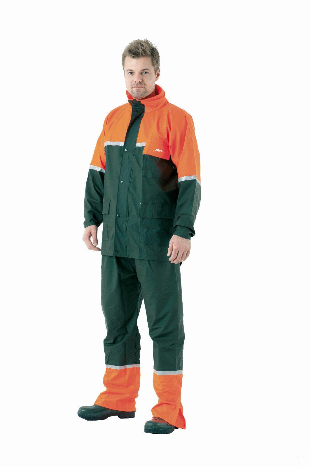 ALBATROS Stretch-Regenjacke Stretch-Regenjacke Stretch-Regenjacke 274620 grün-Orange PU Jacke Jagdjacke Treiberjacke 3d5bfb