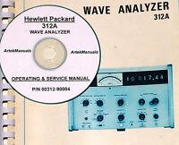 Hp Hewlett Packard 312a Wave Analyzer, Manual, Ops, Service And Schematics