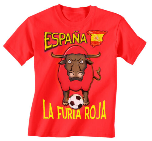 Spain World Cup 2018 Football Mascot T-Shirt Choice Of MENS LADIES KIDS