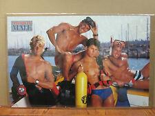 American male Scuba Hot Guys ORIGINAL Vintage Poster 1988 2796