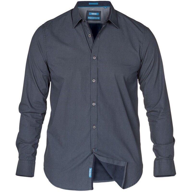 NEW Mens Big Size Duke D555 Cotton Tile Print Shirt 3XL 4XL 5XL 6XL 7XL 8XL