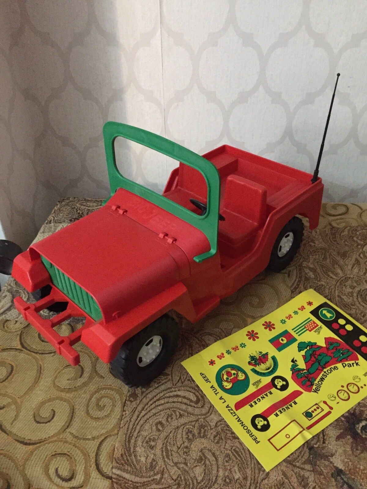 Jeep Willys Adler Vintage Toy Car Big Jeep 1 8 No Polistil Reel Ellegi 4x4