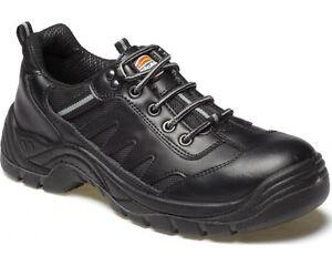 Dickies Stockton Seguridad Puntera De Acero Para Hombre De Cuero Trabajo Zapatillas Zapatos UK3-14