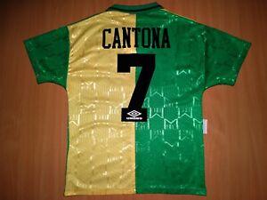 Manchester United #7 CANTONA 1992 1993 football shirt jersey S AWAY UMBRO