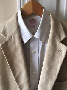 Jos bottoni da di uomo beige 43 lana sportivi lunghi marrone A in Bank chiaro 2 lino giacca blazer AwxvqArU
