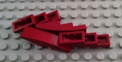 New LEGO Lot of 4 White 4x1 Curved Slopes
