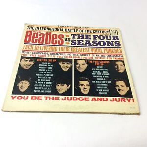Rare-039-The-Beatles-vs-The-Four-Seasons-039-1962-Mono-Double-Vinyl-LP-EX-VG-VG-Nice