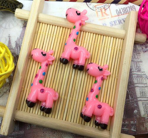 DIY 5//25//50//100pcs Giraffe 35X15MM Flatback Resin Cabochon Scrapbooking//Crafts
