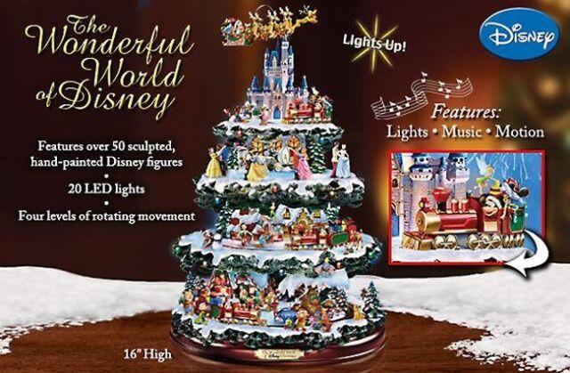 Disney Christmas Tree.Disney 50 Character Tabletop Christmas Tree Carousel Musical Light Motion Train