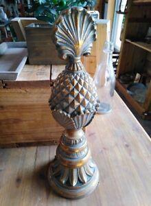 Ananas-Statuette-Style-Antique-Vintage-Ciment-40cm-Haut-Tropical-Neuf