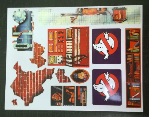Ghostbuster Firehouse Fire Station replacement stickers