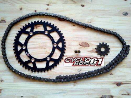 Kit Chaine Hyper Renforcé Noir 13x50 KTM sx//sxf 125//150//250//350//450 1991 à 2017