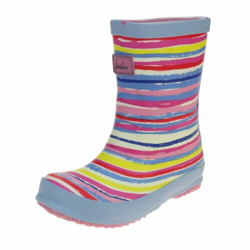 Joules Rainbow Welly Girls Multi Wellington Boot