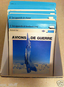 lot-of-50-american-War-Plane-Card-Collector-Aviation-magazine-Vintage-in-French