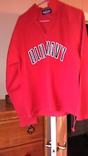 OLD Navy OLDER STYLE Mens L RED Fleece Hoodie Pull String Waist Side Pockets